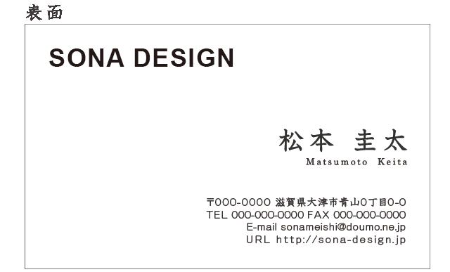 ビジネス両面名刺・シンプル 009 100枚