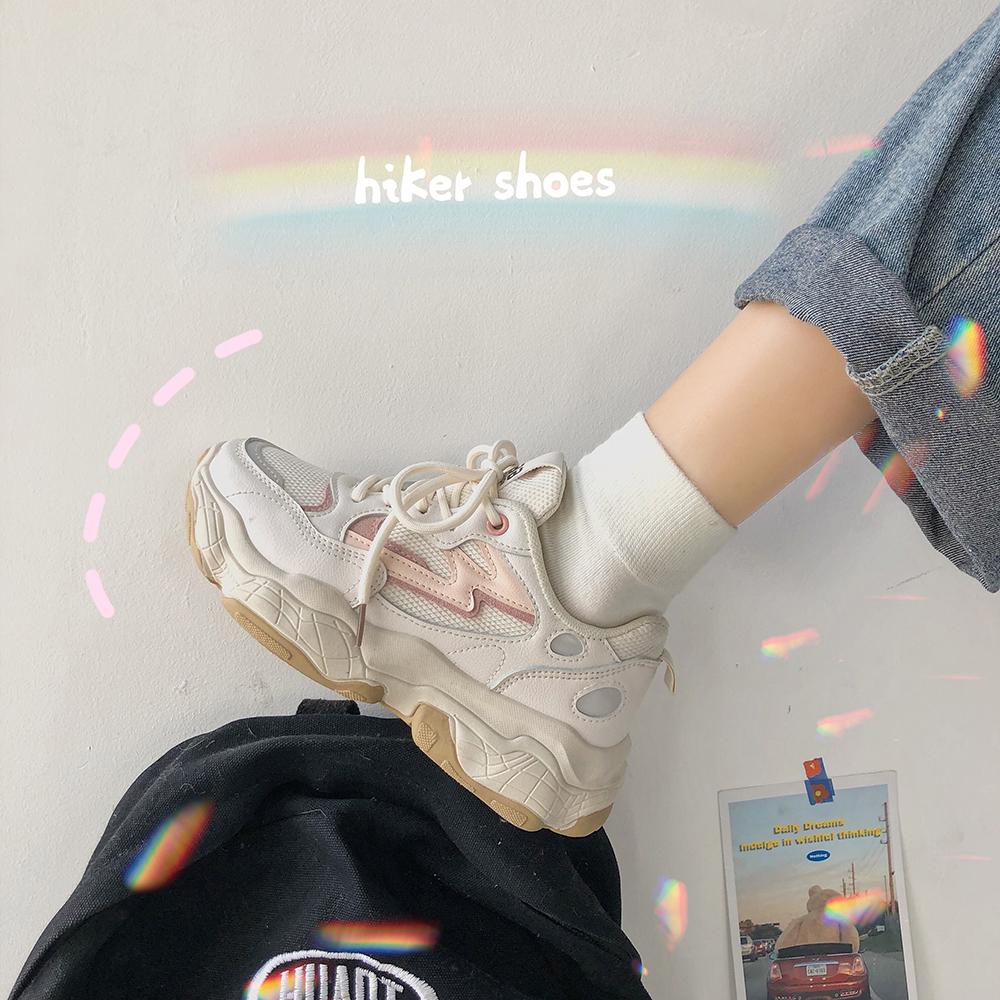 【送料無料】 トレンドライクな足元に♡ 厚底 スニーカー ダッドシューズ 歩きやすい カジュアル 靴 足元 おしゃれ