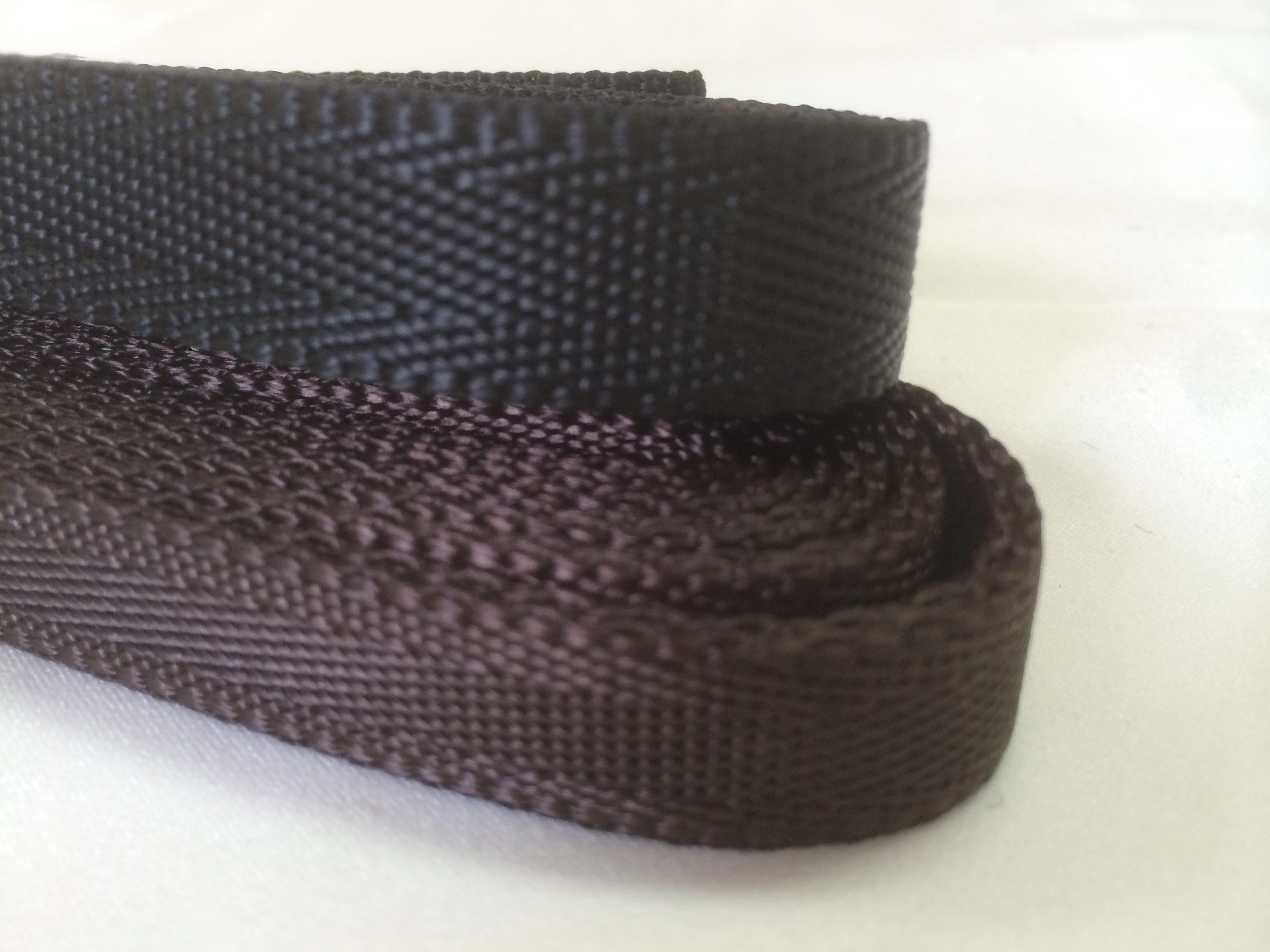 ナイロン シート織 15mm幅 1.3mm厚 1反(50m)  黒