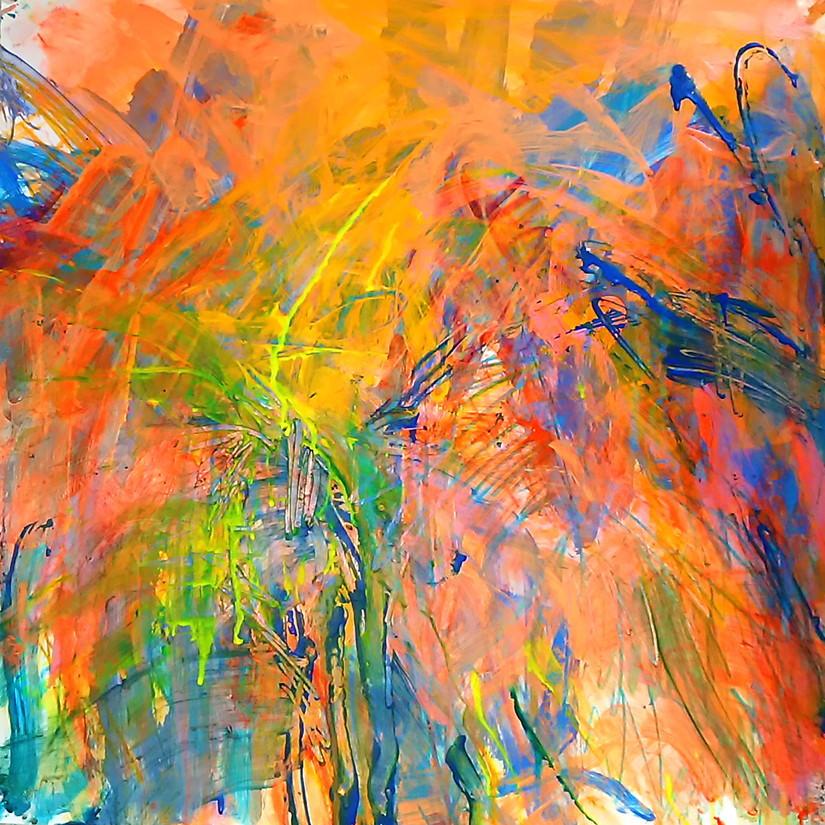 絵画 インテリア アートパネル 雑貨 壁掛け 置物 おしゃれ 抽象画 現代アート ロココロ 画家 : tamajapan 作品 : t-14
