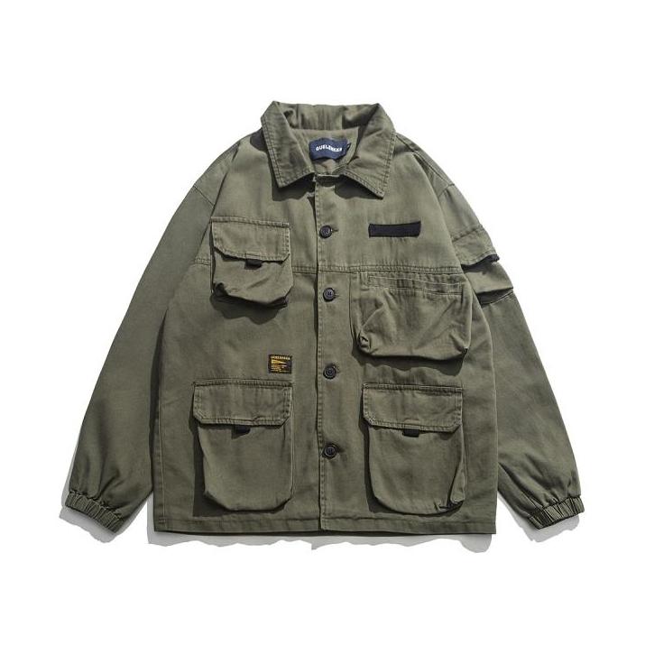 【UNISEX】アウトドア マルチポケット ジャケット【3colors】