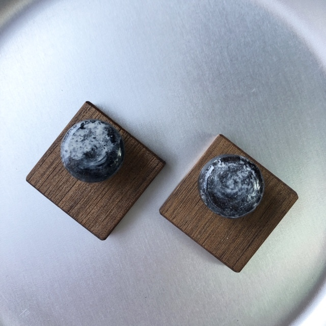 mokune × N7enunana ピアス/イヤリング Black