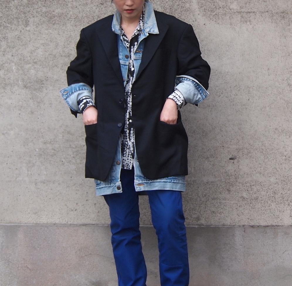 【sandglass】sack coat (denim)/ 【サンドグラス】サック コート(デニム)
