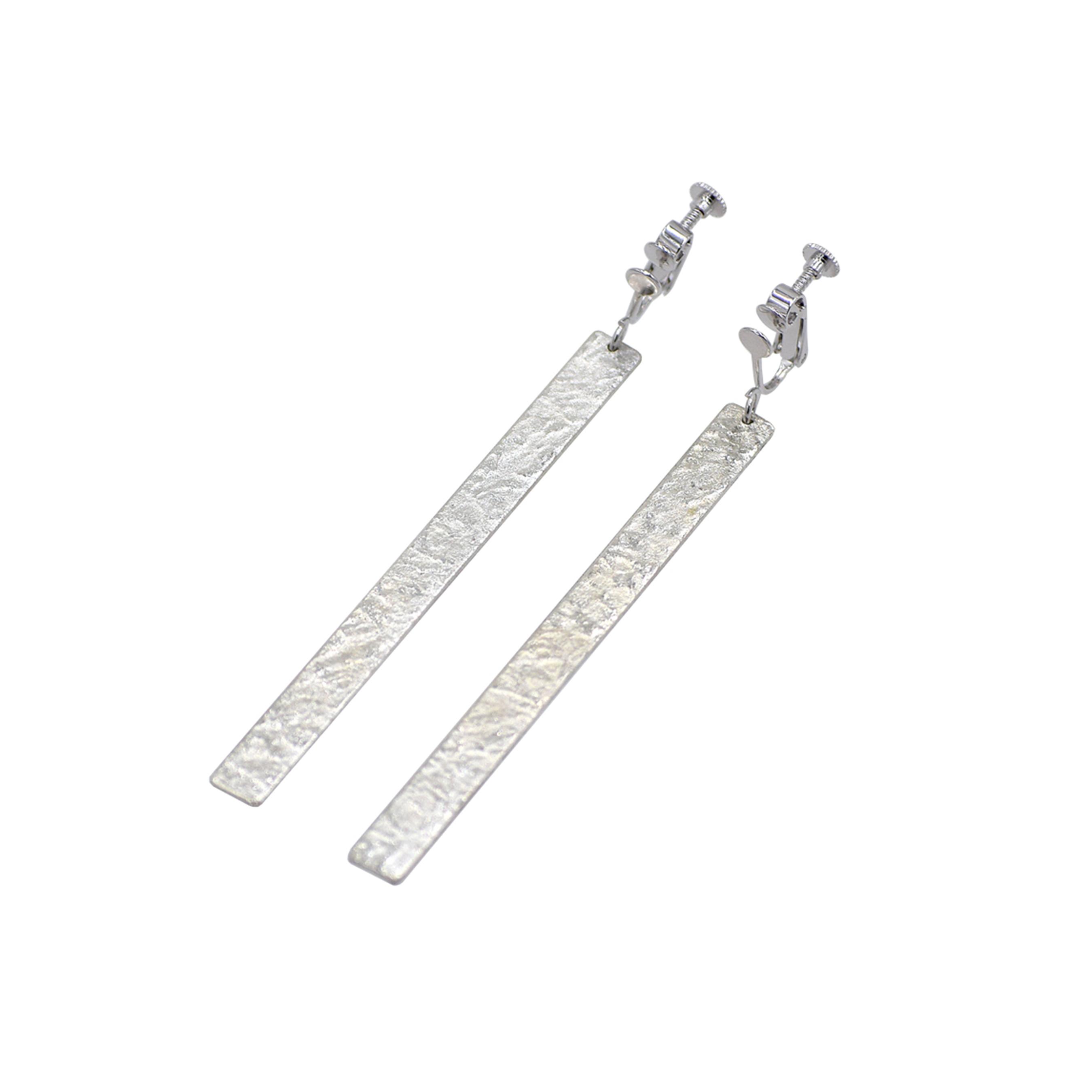 《イヤリング》TIN BREATH Earrings 7×80mm silver