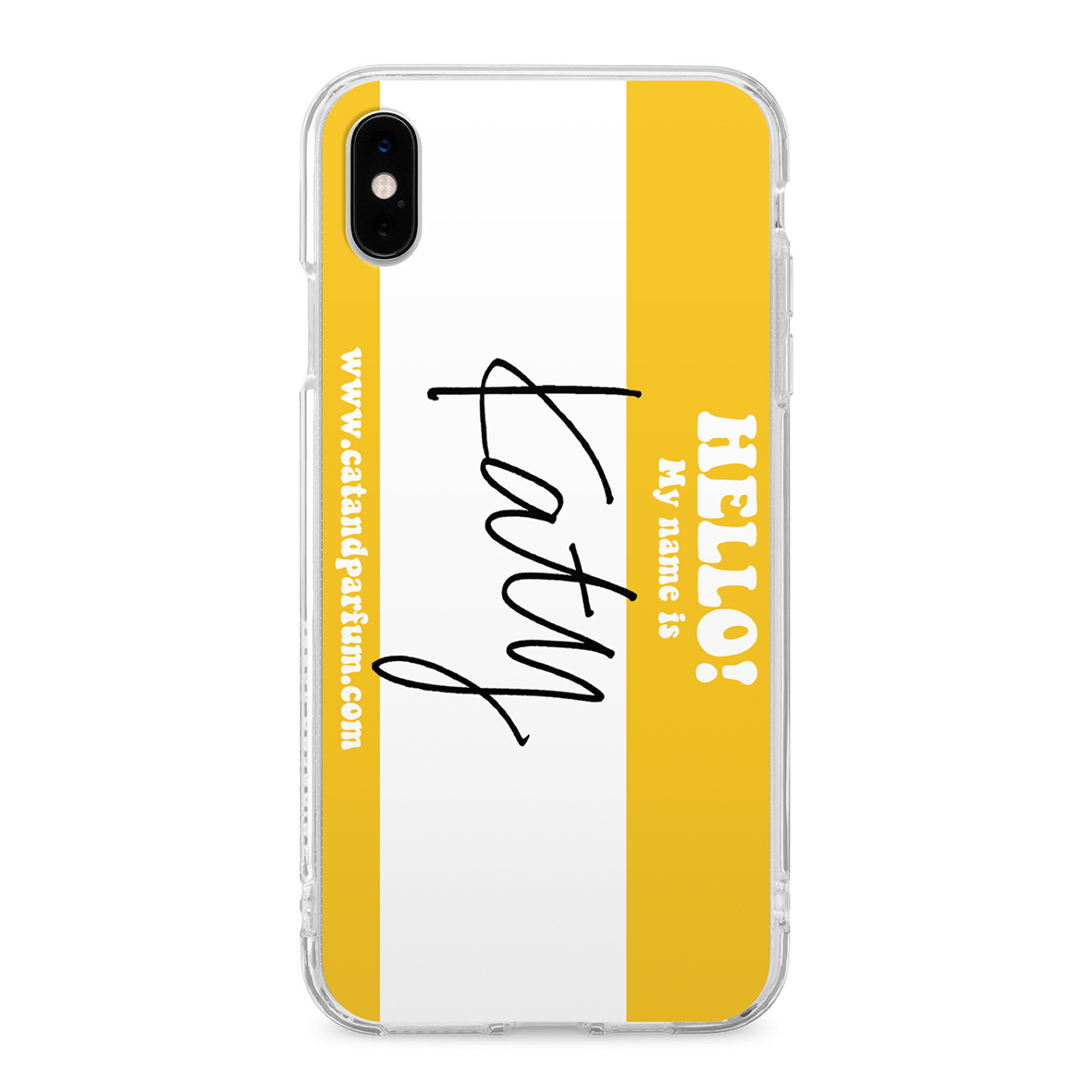 ''HELLO! My name is'' Custom iPhone Case