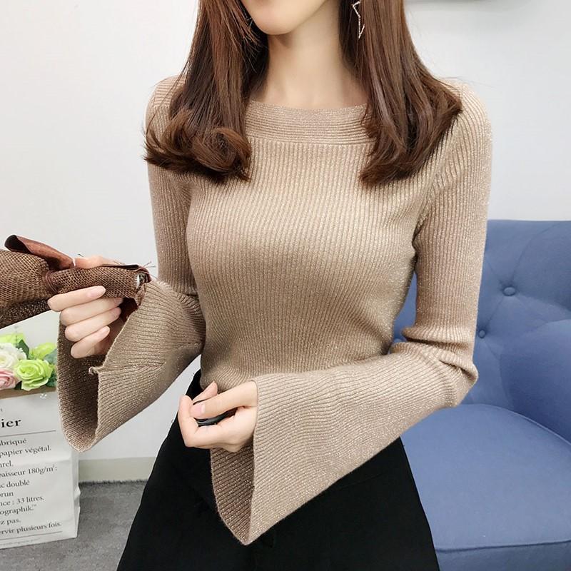 【tops】シンプル着痩せ無地超人気カットソー26561467