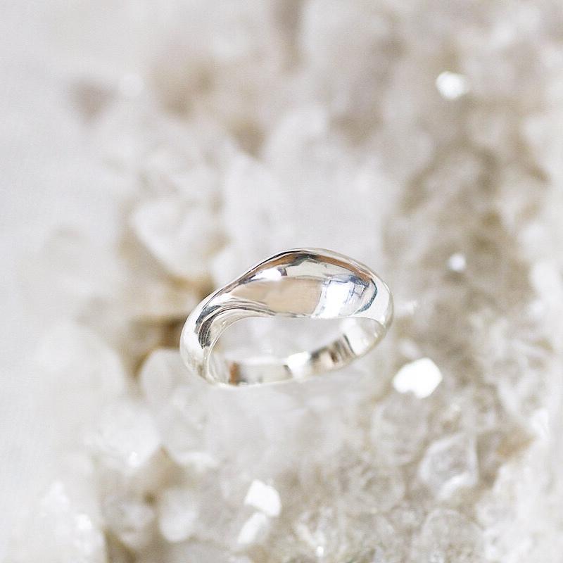 wavy ring ( SV925 )