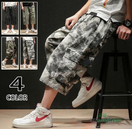 カーゴパンツ 七分丈ズボン メンズ ゆったり 涼しいズボン ワイドパンツ 夏 ボトムス ミリタリーパンツ