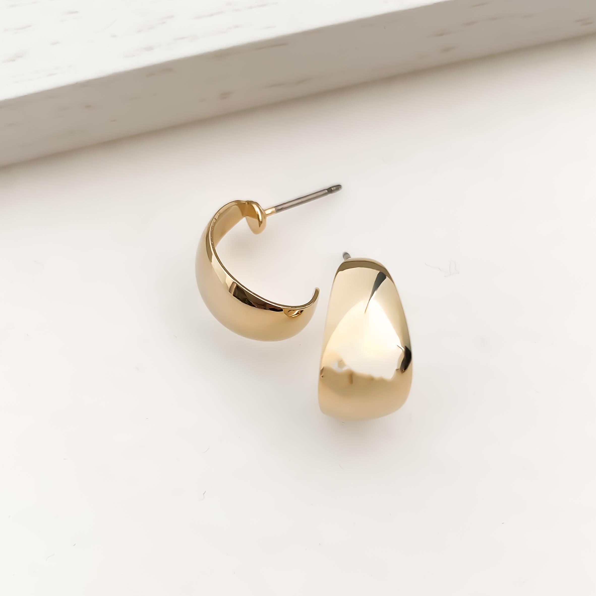 bow line hoop pierces/earrings s n515