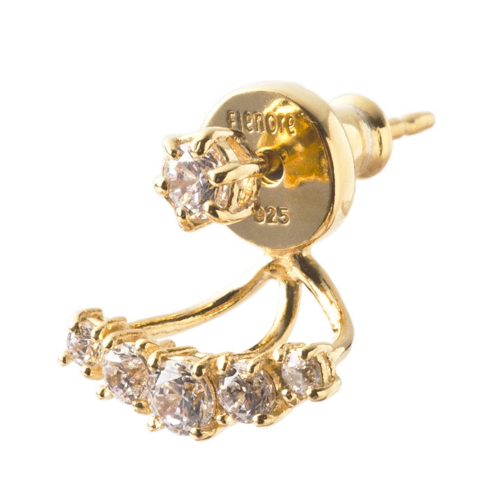 Stone Line Earrings ストーンラインピアス(片耳用)ELE0014SG