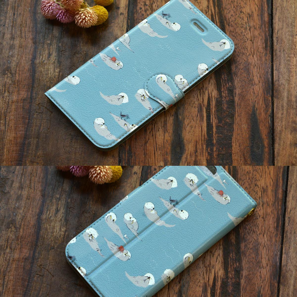 【訳あり】アイフォン6s ケース 手帳型 かわいい iphone6s ケース 手帳 大人かわいい iphone6s ケース 手帳 シンプル かわいい ラッコの一日/Bitte Mitte!【bm-iph6t-10026-B1】