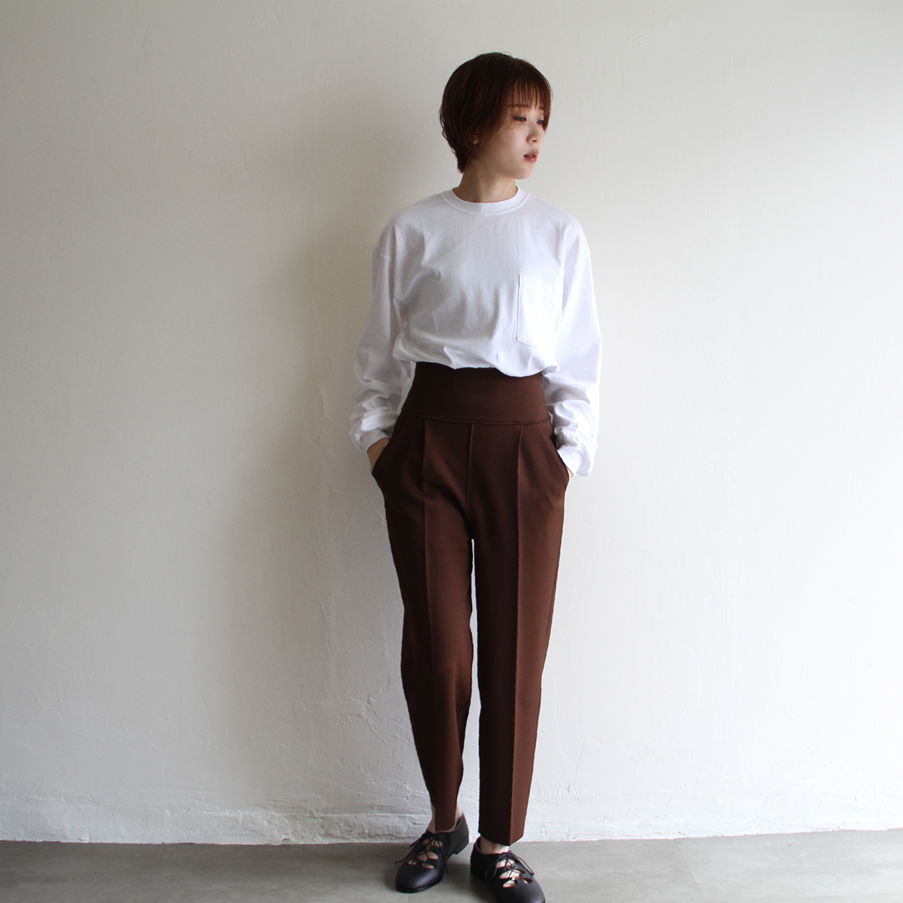 PHEENY【 womens 】amunzen high waist tapered pants