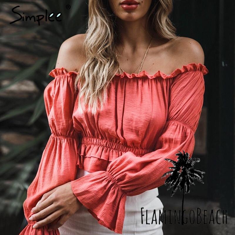 【FlamingoBeach】color tops トップス