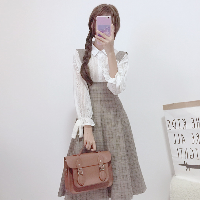 【set】[単品注文]ファッションレースシャツ+ワンピースセットアップ25291439