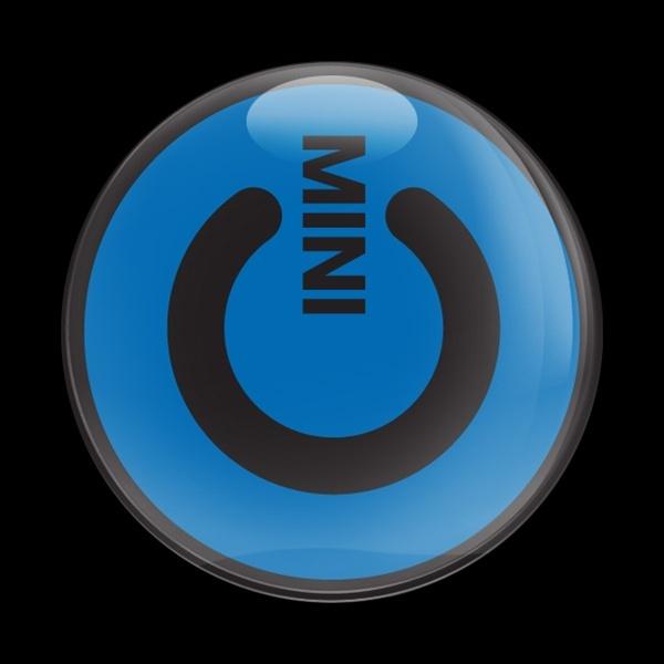 ゴーバッジ(ドーム)(CD0387 - MINI POWER BLUE) - 画像1