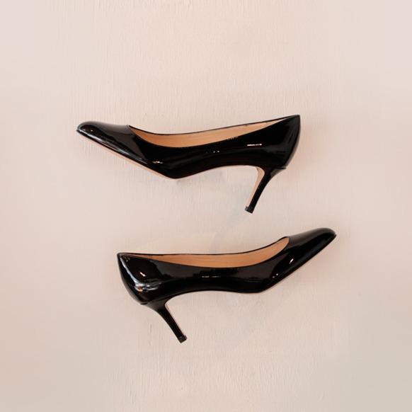 FABIO RUSCONI / KIM plain toe pumps