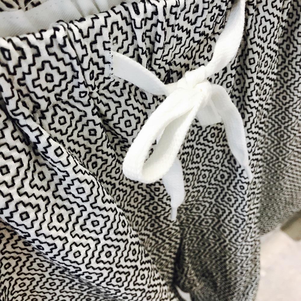 KUON Short Pants 刺し子織り WHITE