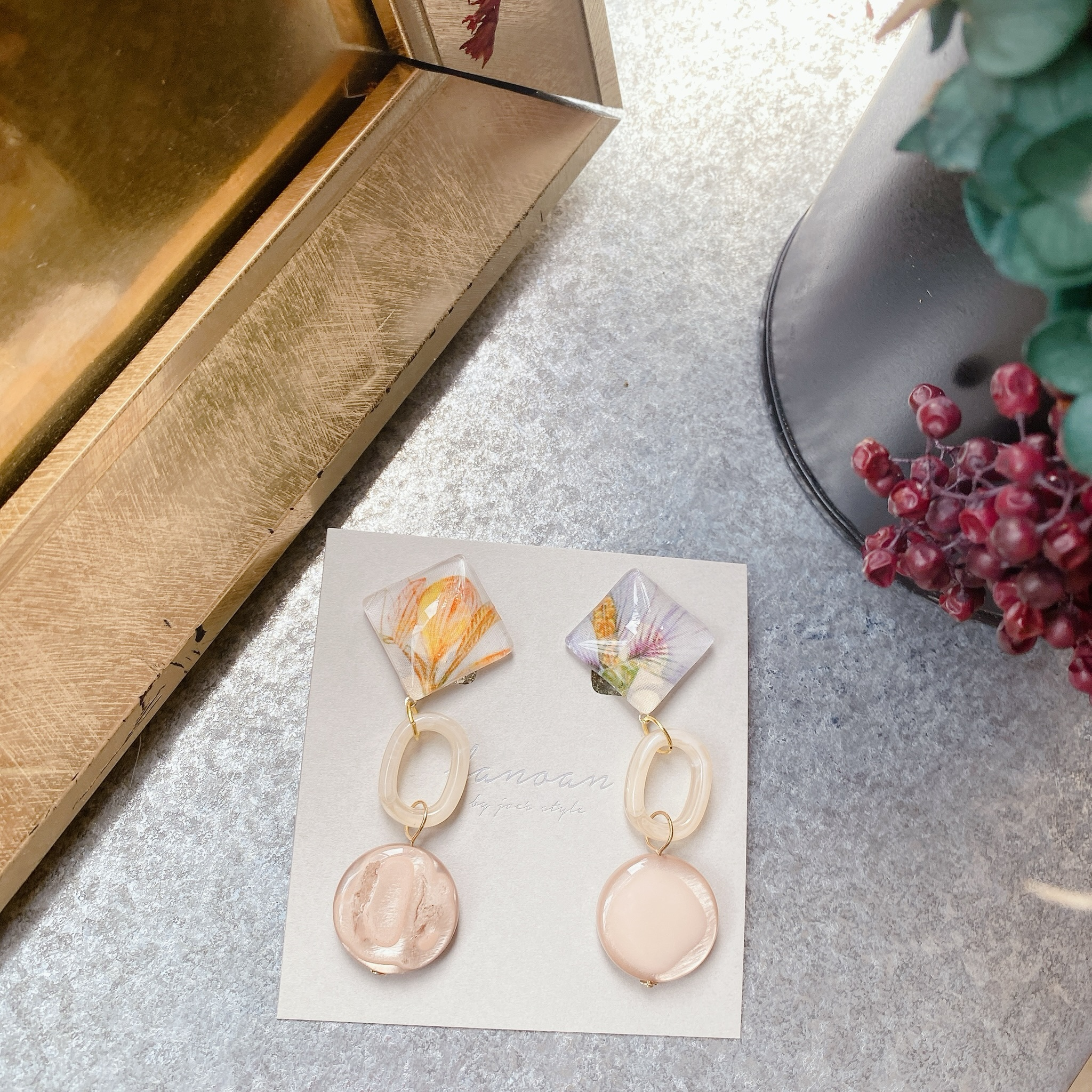 """"""" Earrings NO.danoan-107″ リバティベージュトーン"""