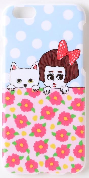 iPhone6ケース  女の子と白猫