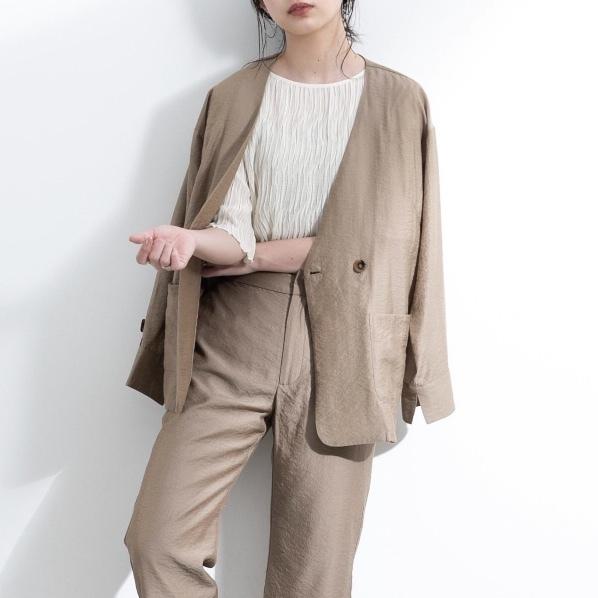 【yukichi.】arm suspender jacket/BEG