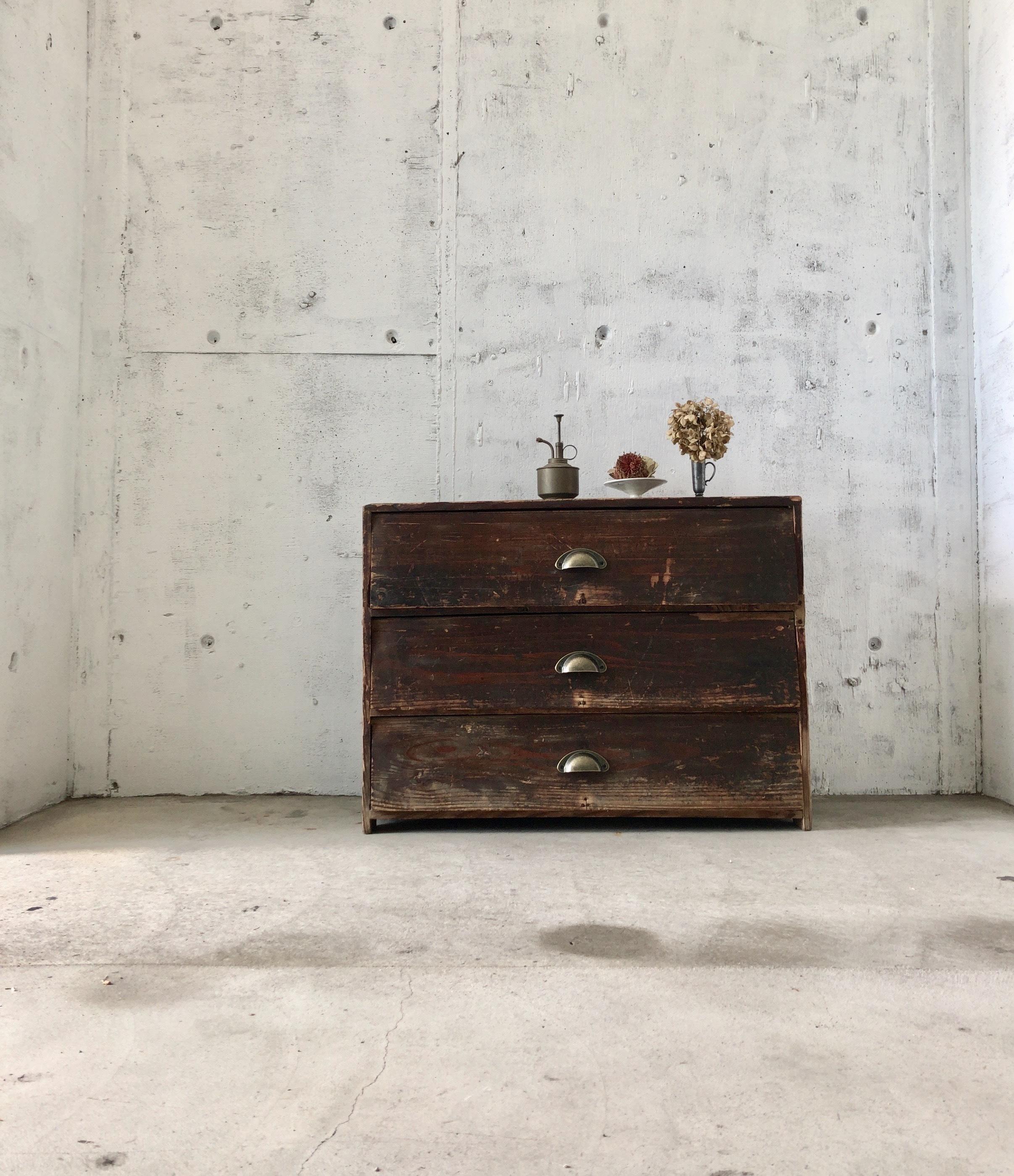 パタパタ扉の収納3段[古家具]