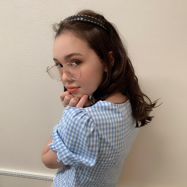 stitch enamel hair band