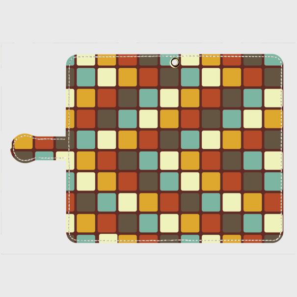 モザイクタイル(カラー)/ Androidスマホケース(手帳型ケース)