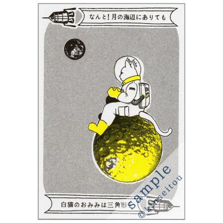 ポストカード - なんと三角 月の海辺 - 金星灯百貨店