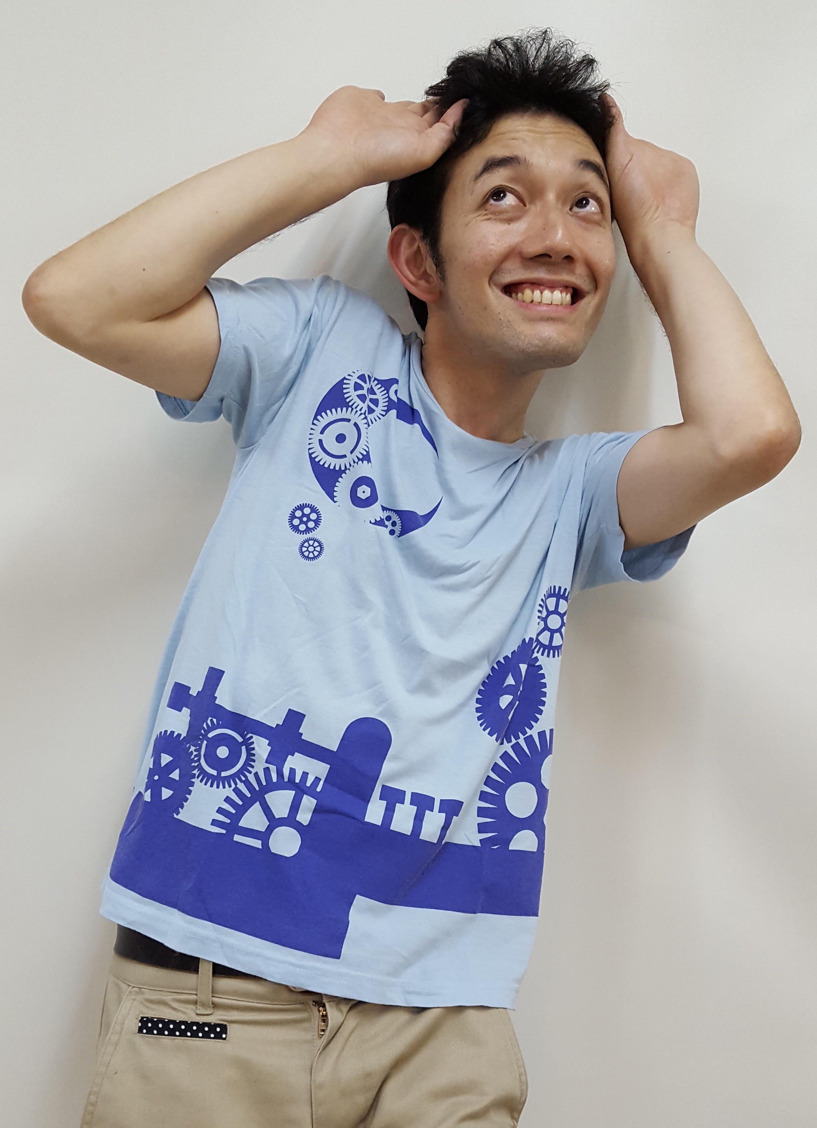 Tシャツ 「シアターグリーン3劇場連動企画」ライトブルー