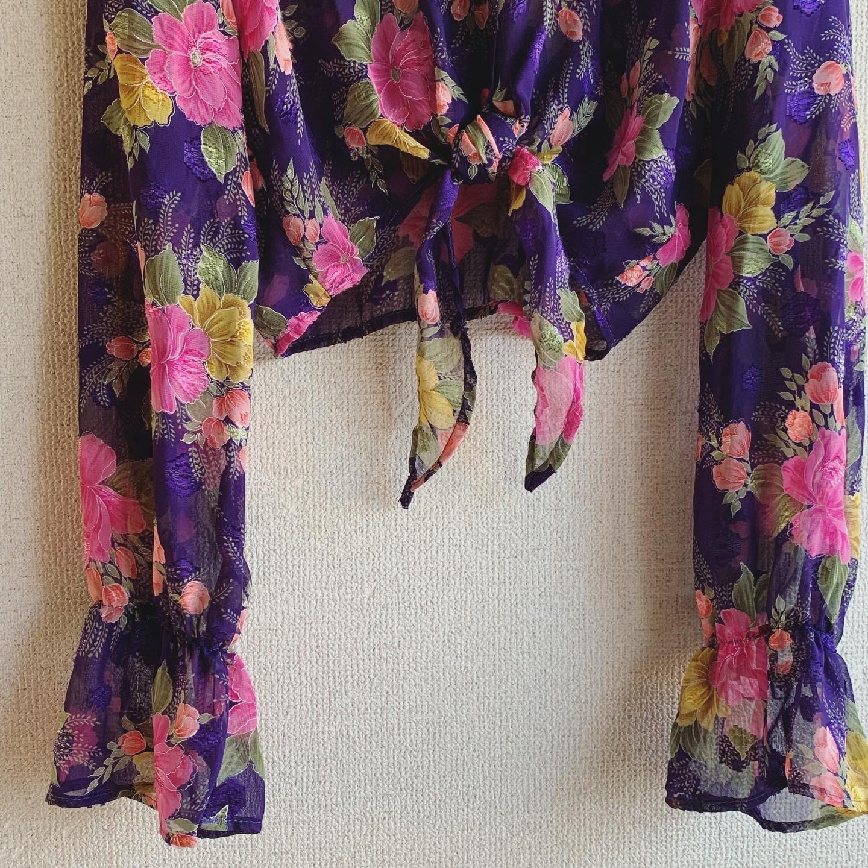 【SALE】vintage short length sheer tops