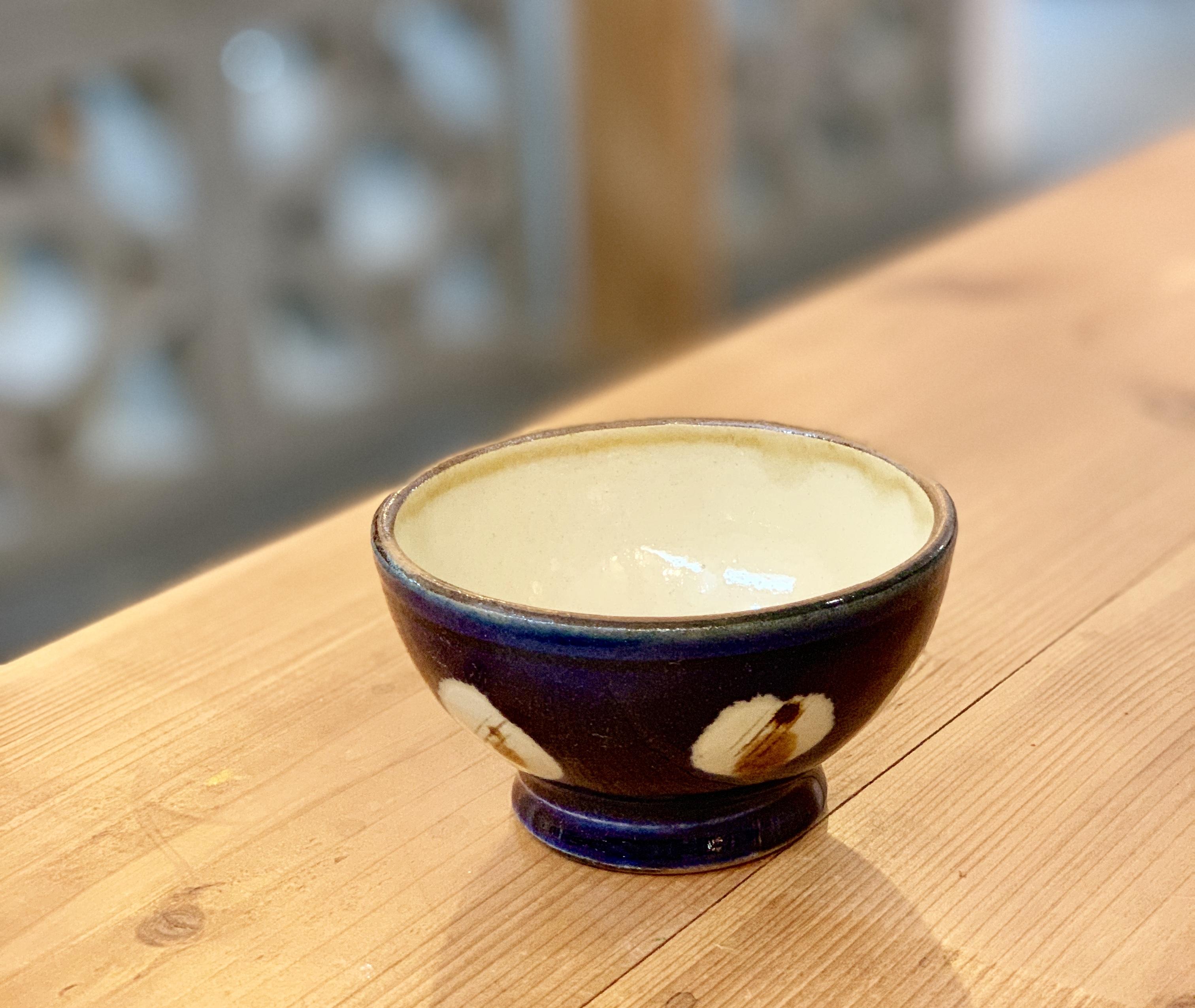 マカイ 4寸 福田陶器 (瑠璃色.碗型)