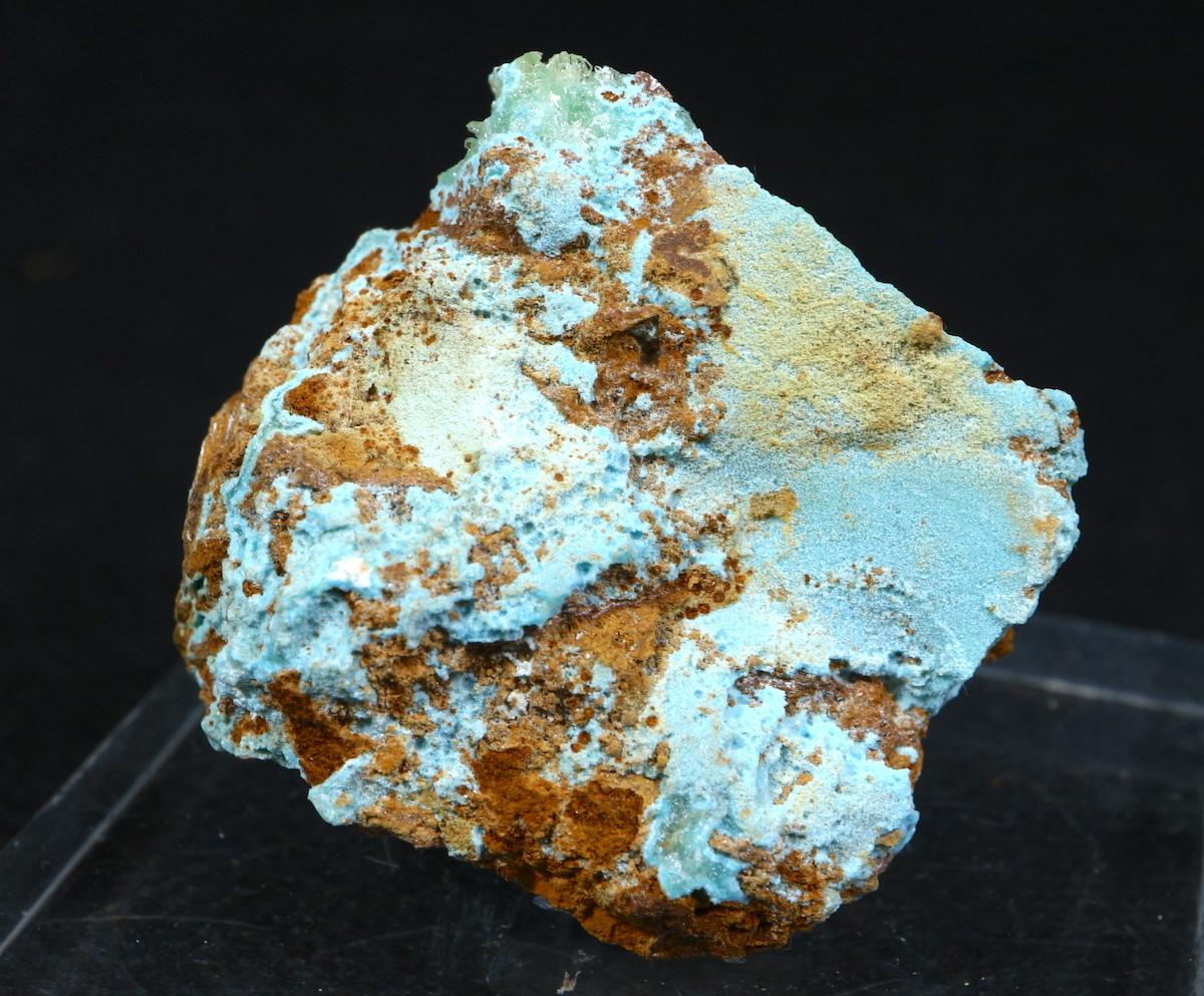 セネガル石 + ターコイズ セネガライト 原石 20g TQ146 鉱物 天然石 パワーストーン