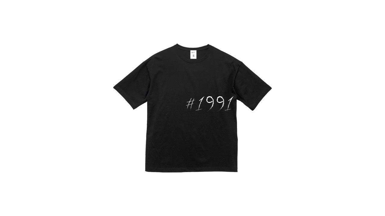 1991 big logo graphic T-shirts (BLK)
