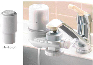 [素粒水]マイナスイオン浄水器 ワンウォーターECO(カートリッジ込)