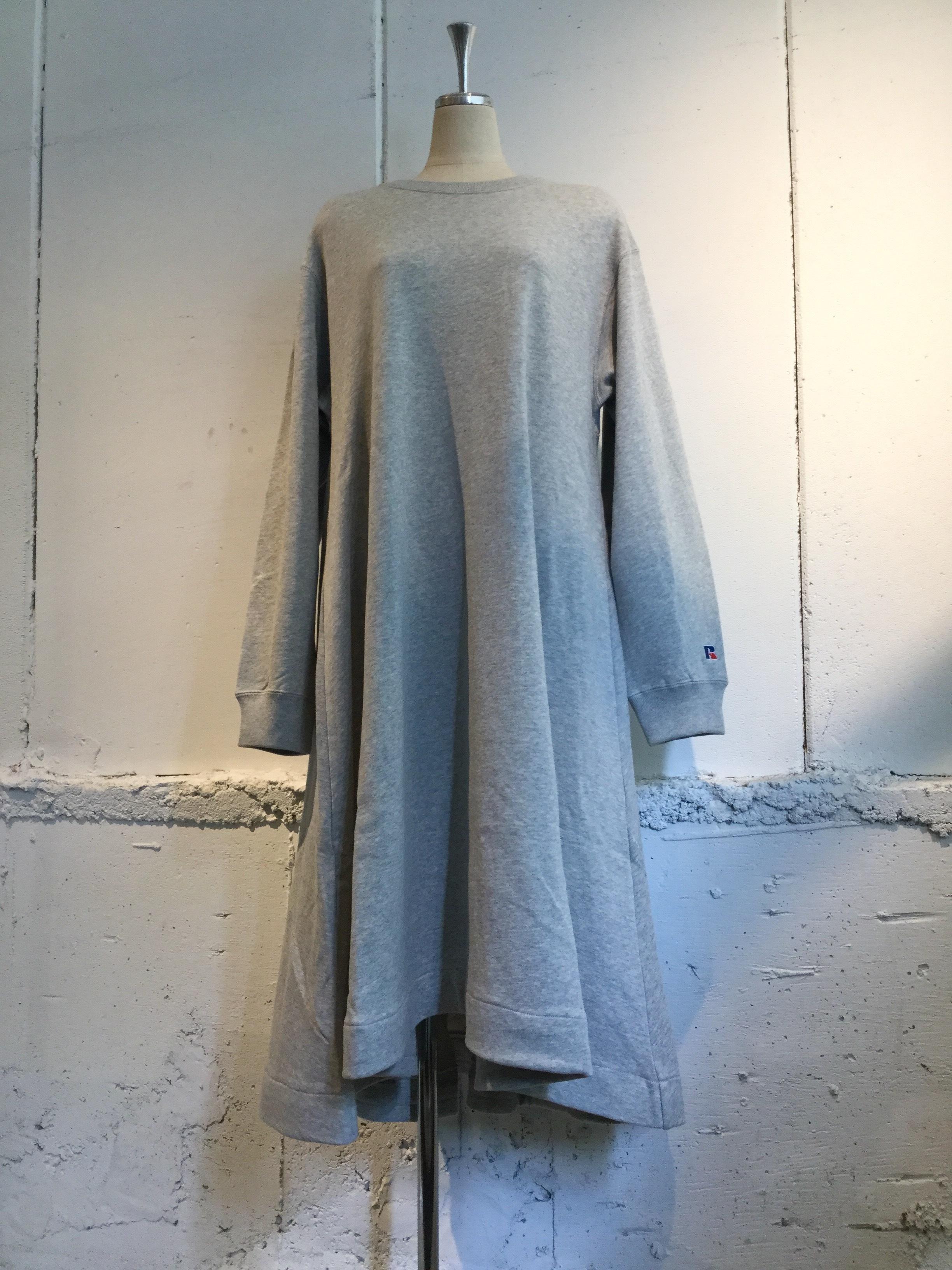 k3&co. RUSSELL×k3&co. SWEAT DRESS (GREY)