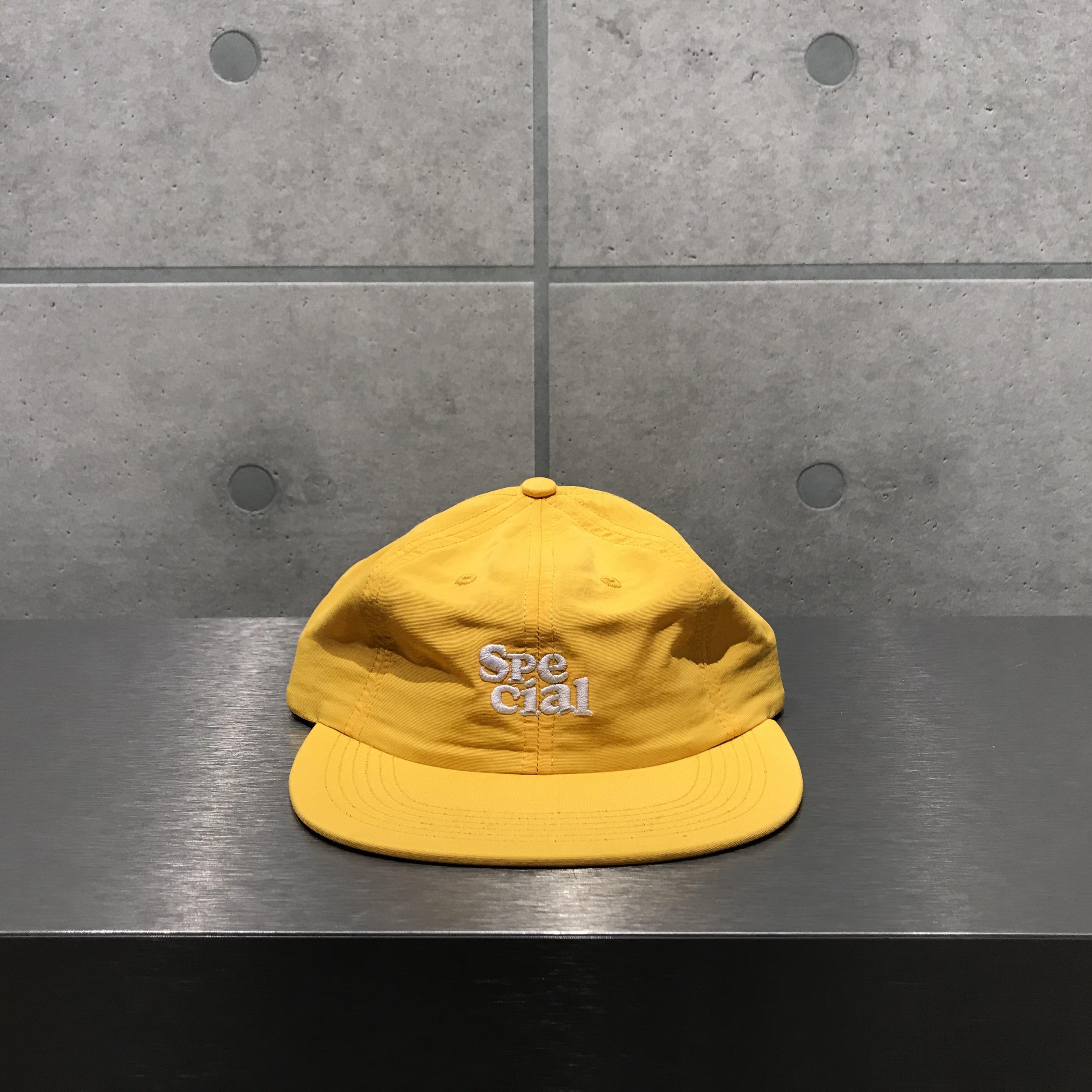 NOTHIN'SPECIAL SPECIAL NYLON 6-PANEL CAP / YELLOW x WHITE