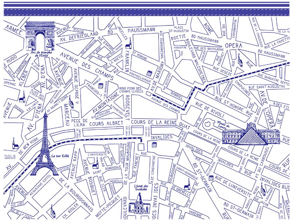 パリマップ ParisMap ブルー