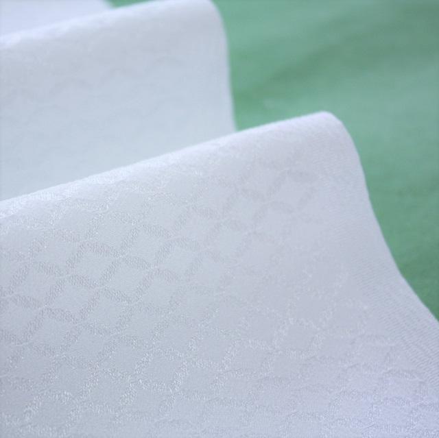 シルフィル紋えり 白色 紋綸子 七宝柄