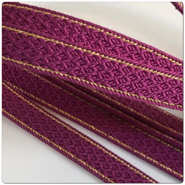 ★送料無料!美品 帯締め 紫 金糸 和装小物★ 2243