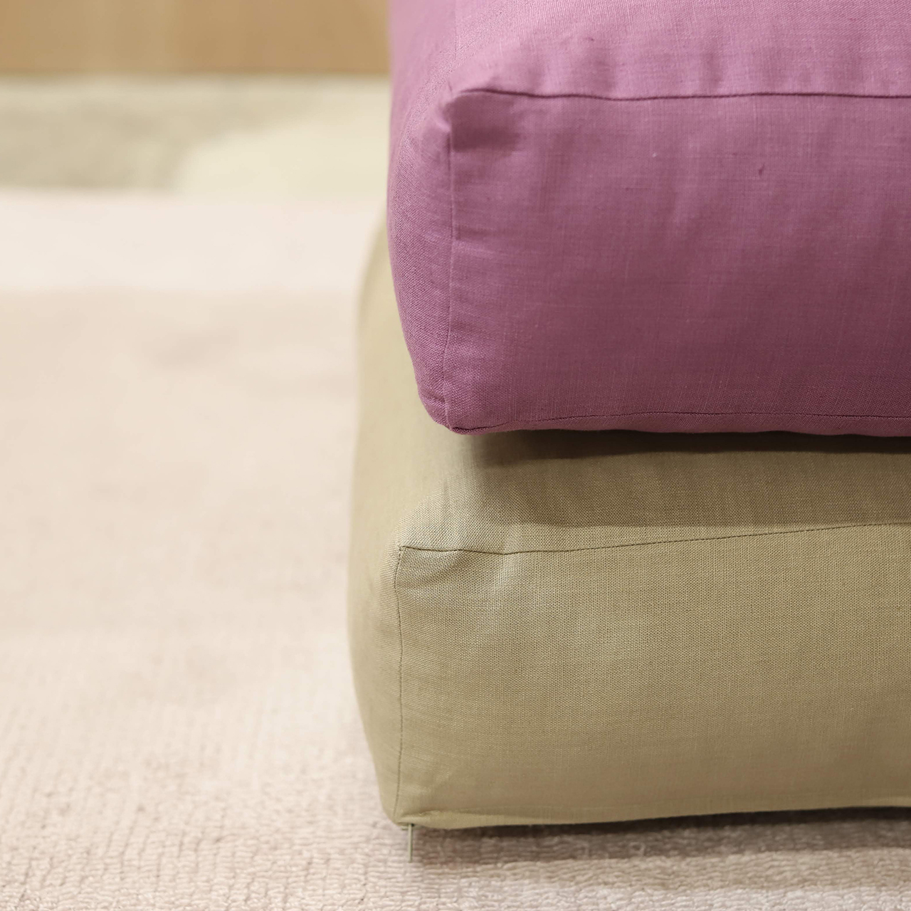 Fiber Art Studio Linen Cushion   [SQUARE]