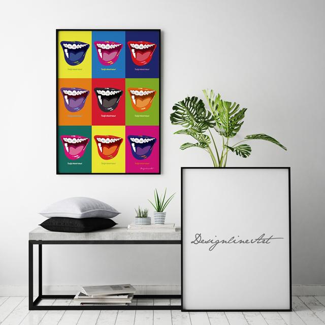 Orthodontic(Color)B3ポスター(フレーム入り)