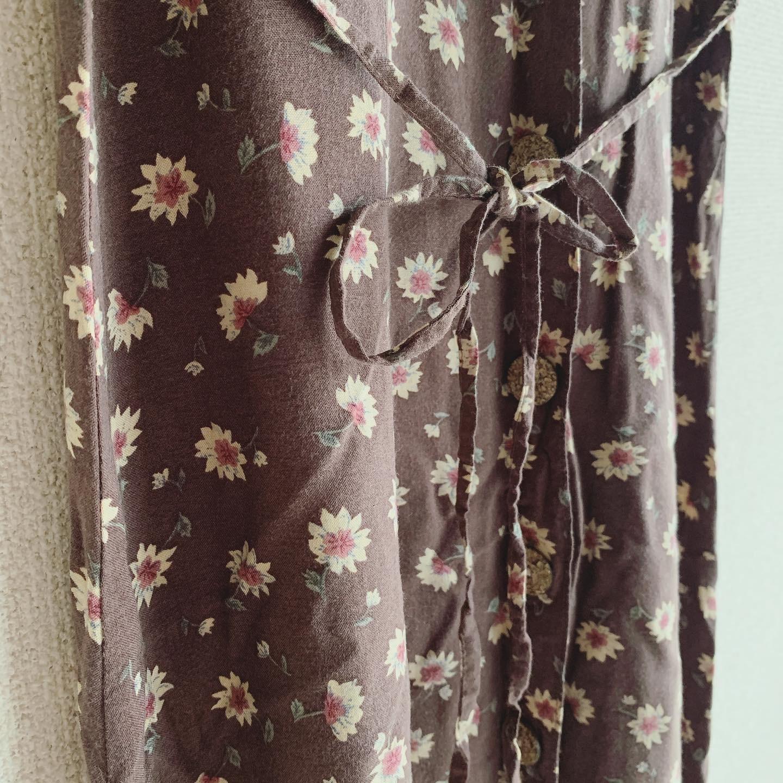 vintage linen mix flower design onepiece