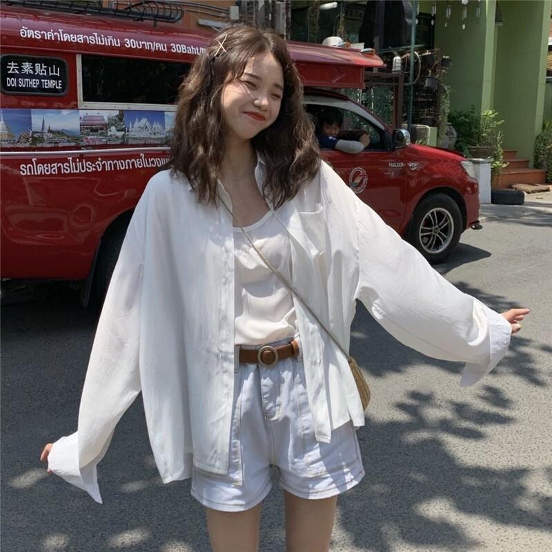 【送料無料】 こなれシャツ♡ ルーズ オーバーサイズ シャツ 羽織り シンプル