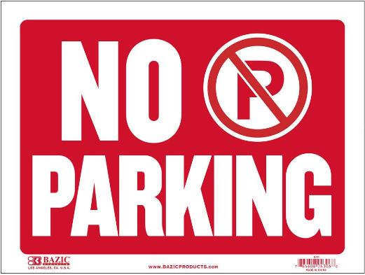 【商品入れ替えのため】No Parkingサイン