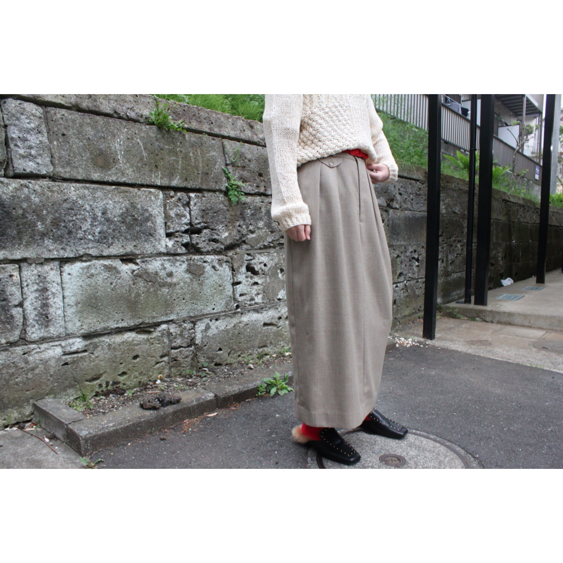 Vintage long tight skirt