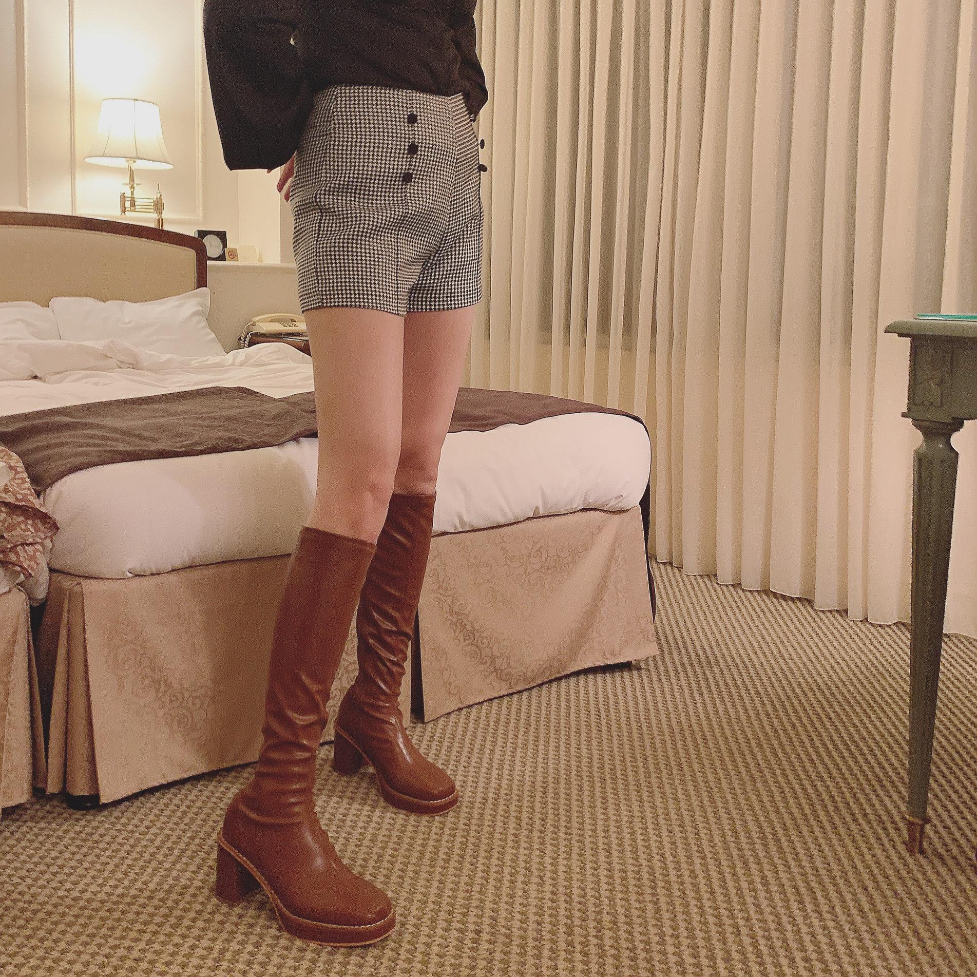 【Désir original】classical check short pants