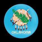 ゴーバッジ(ドーム)(CD0646 - FLAG OKLAHOMA US STATE) - 画像1