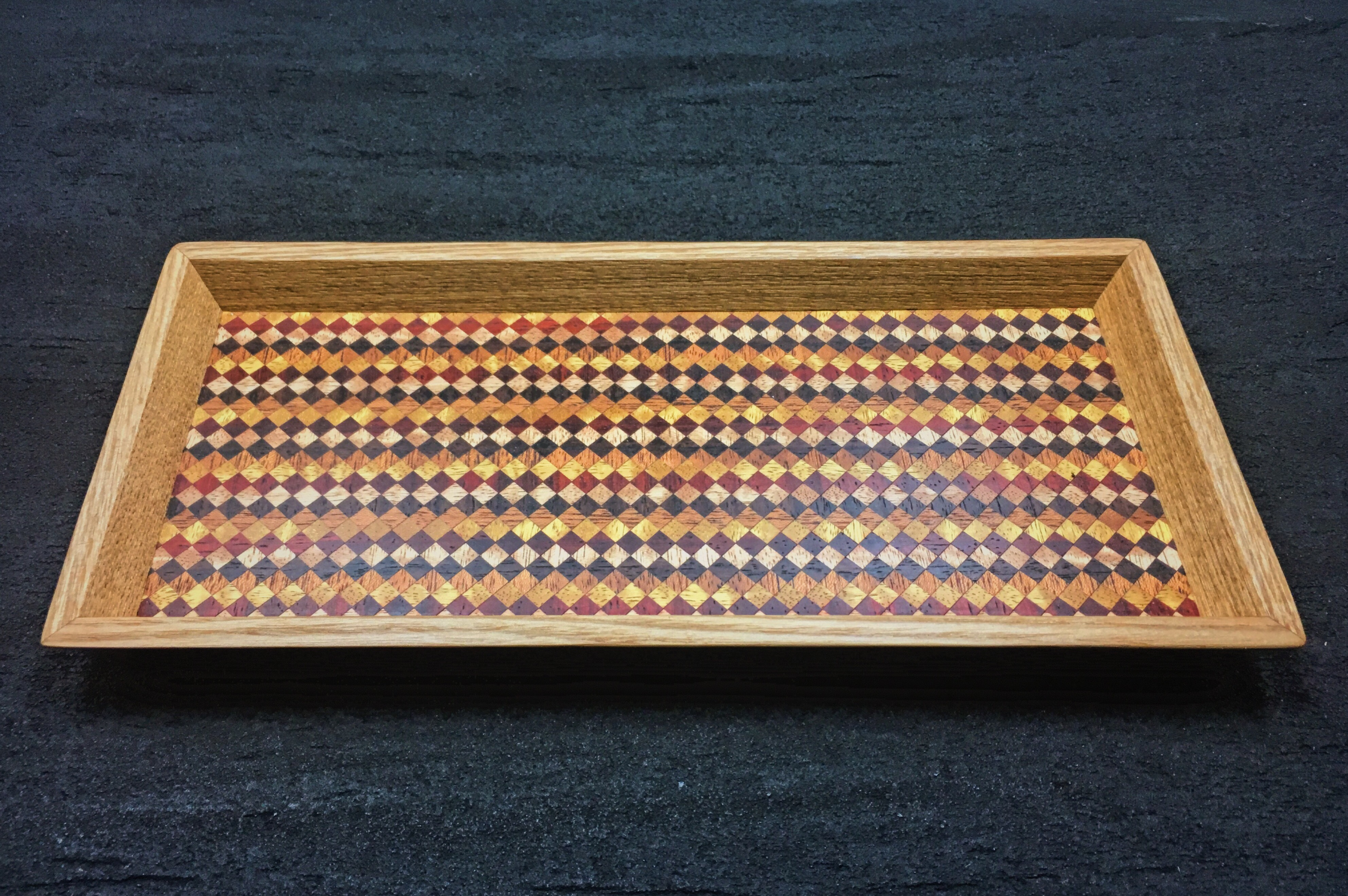 wood checker mini tray 0092