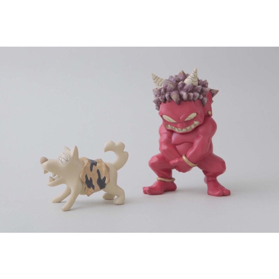 瀧下和之 鬼フィギュア 赤鬼とイヌ。