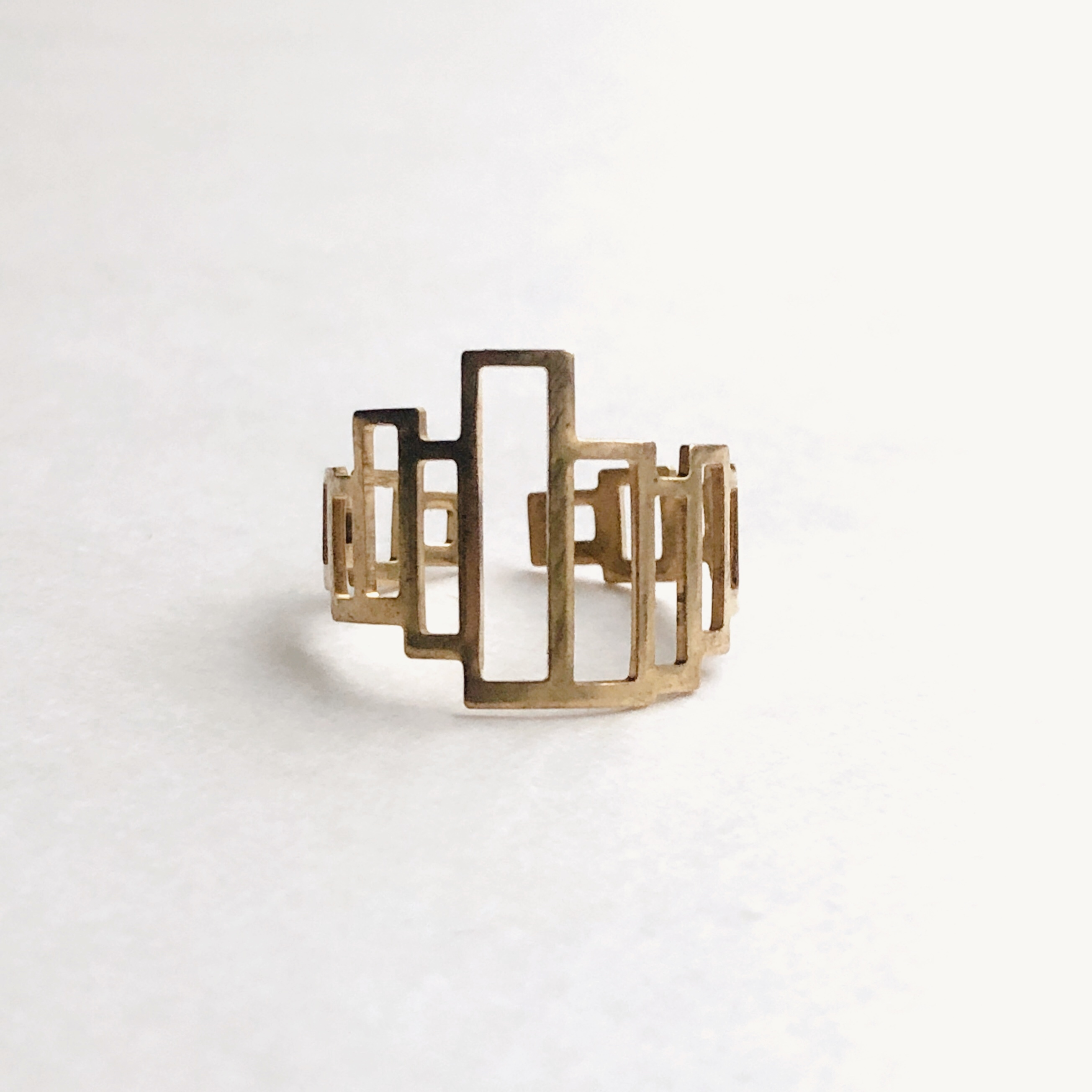 Square steps Ring -  RG-047
